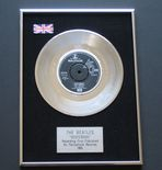 THE BEATLES - YESTERDAY PLATINUM single presentation DISC